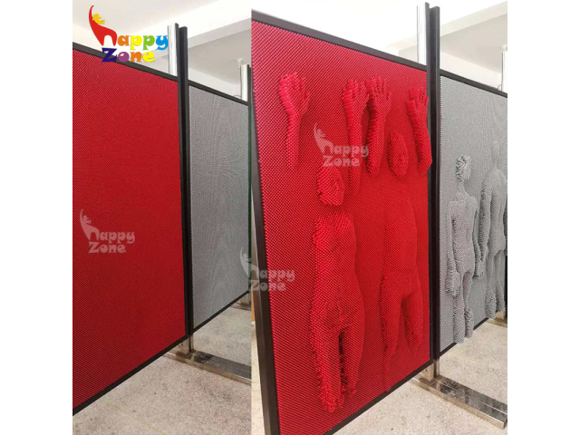 Interactive And Educational Impression Pin Screen Pin Wall Panel Games For Sales Happy Zone Recreation Ltd
